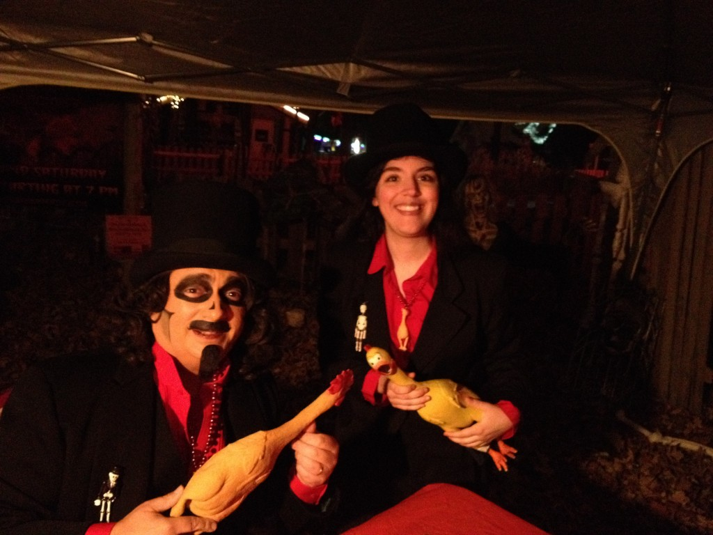 Neither rain nor cold could keep Svengoolie and his fans away from Santa's Village on October 19!